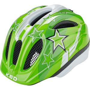 KED Meggy Helmet Kinder green stars green stars