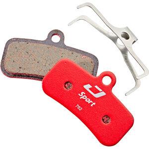 Jagwire Sport Semi-Metallic Bremsbeläge für Shimano Saint/Zee | TRP Quadiem/Slate 1 Paar rot rot