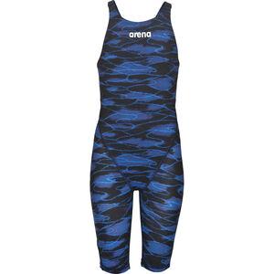 arena Powerskin ST 2.0 LTD Edition Full Body Short Leg Open Back Girls blue-royal