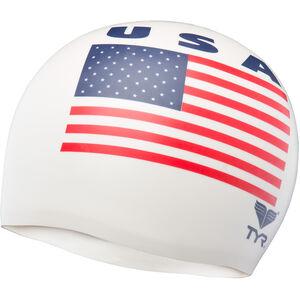 TYR USA Silicone Cap white white