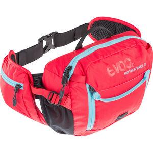 Evoc Hip Pack Race Backpack 3 L + Hydration Bladder 1,5 L red-neon blue