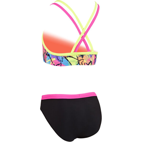 Zoggs Street Two Pieces Bikini Girls schwarz/bunt