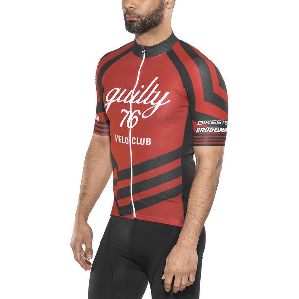 guilty 76 racing Velo Club Pro Race Jersey Herren red