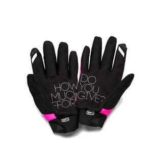 100% Brisker Cold Weather Gloves Damen pink/black pink/black