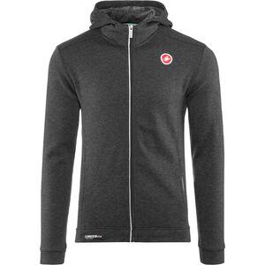 Castelli Milano Full-Zip Fleece Jacket Herren melange light black melange light black