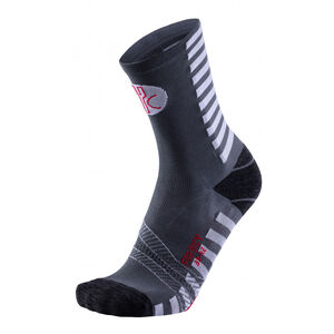 FOR.BICY Optical Socks Men Anthracite/White