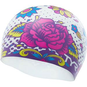 TYR Flower Power Swim Cap white/multi white/multi