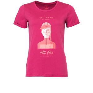 Triple2 Laag Face T-Shirt Women Beet Red beet red