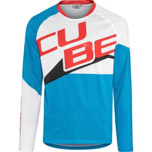 Cube Action Pilot Rundhalstrikot langarm Herren white'n'blue'n'red