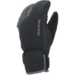 Sealskinz Waterproof Extreme Cold Weather Split Finger Fahrradhandschuhe black/grey black/grey
