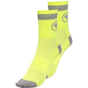 Endura Luminite Socks TwinPack hi-viz yellow/reflective hi-viz yellow/reflective