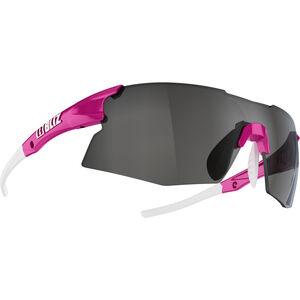 Bliz Tempo M12 Brille für schmale Gesichter rubber neon pink/smoke with silver mirror rubber neon pink/smoke with silver mirror