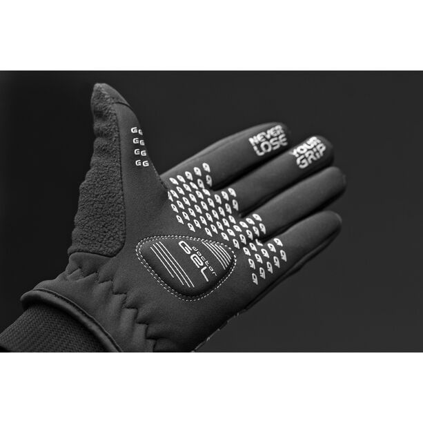GripGrab Rebel Windproof Winterhandschuhe Kinder black/grey