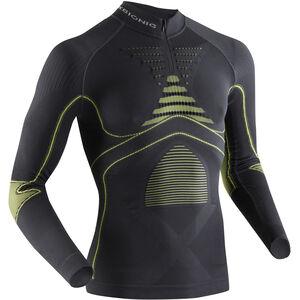 X-Bionic Accumulator EVO UW Zip Up LS Shirt Men Charcoal/Yellow bei fahrrad.de Online