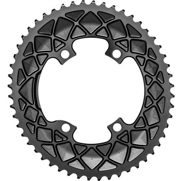 absoluteBLACK Road Ovales Kettenblatt 2-fach 110BCD für Shimano 9100/8000 black
