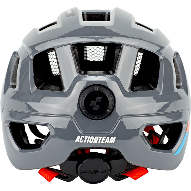 Cube Steep X Actionteam Helm grey/orange