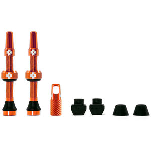 Muc-Off MTB & Road Tubeless Valve Kit 60mm orange orange