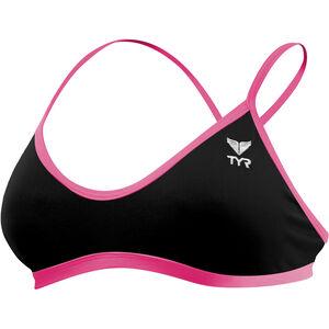TYR Solid Trinity Top Damen black/pink black/pink