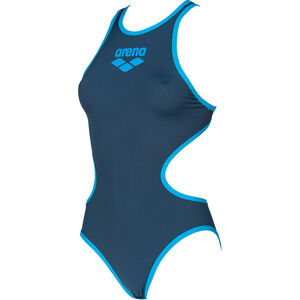 arena One Biglogo One Piece Swimsuit Damen shark/turquoise shark/turquoise