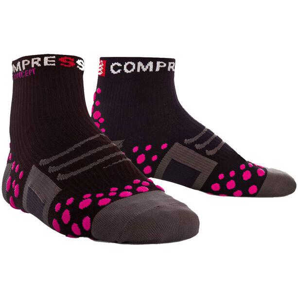 Compressport ProRacing Run High Socks black/pink