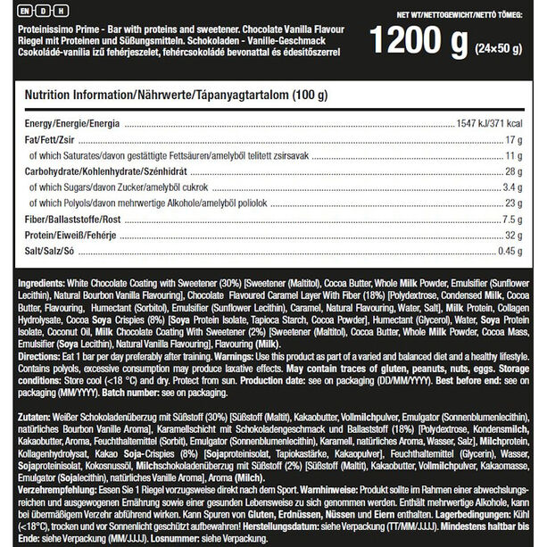 SCITEC Proteinissimo Prime Riegel Box 24x50g Schoko Vanille