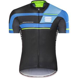 Sportful Gruppetto Pro Team Jersey Men black/electric blue/blue/green
