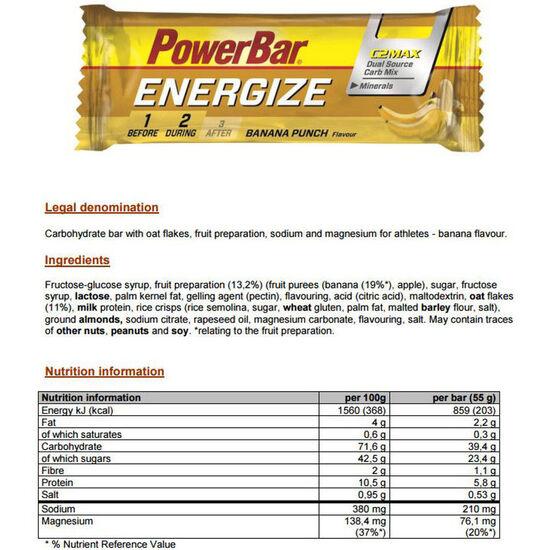 PowerBar Energize Riegel Box Banana Punch 25 x 55g bei fahrrad.de Online