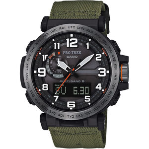 CASIO PRO TREK PRW-6600YB-3ER Watch Men green/silver /black green/silver /black