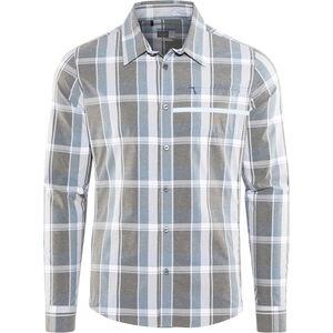 Shimano Transit Check Longsleeve Button Up Shirt Men aegean blue bei fahrrad.de Online