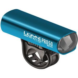 Lezyne Hecto Drive Pro 50 Frontlicht StVZO Y11 blau-glänzend/weiß blau-glänzend/weiß