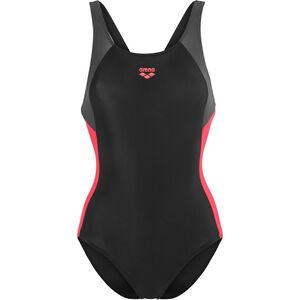 arena Ren One Piece Swimsuit Women black-deep grey-fluo red