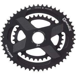 Rotor Aldhu Direct-Mount Doppel-Kettenblatt oval schwarz/matt schwarz/matt