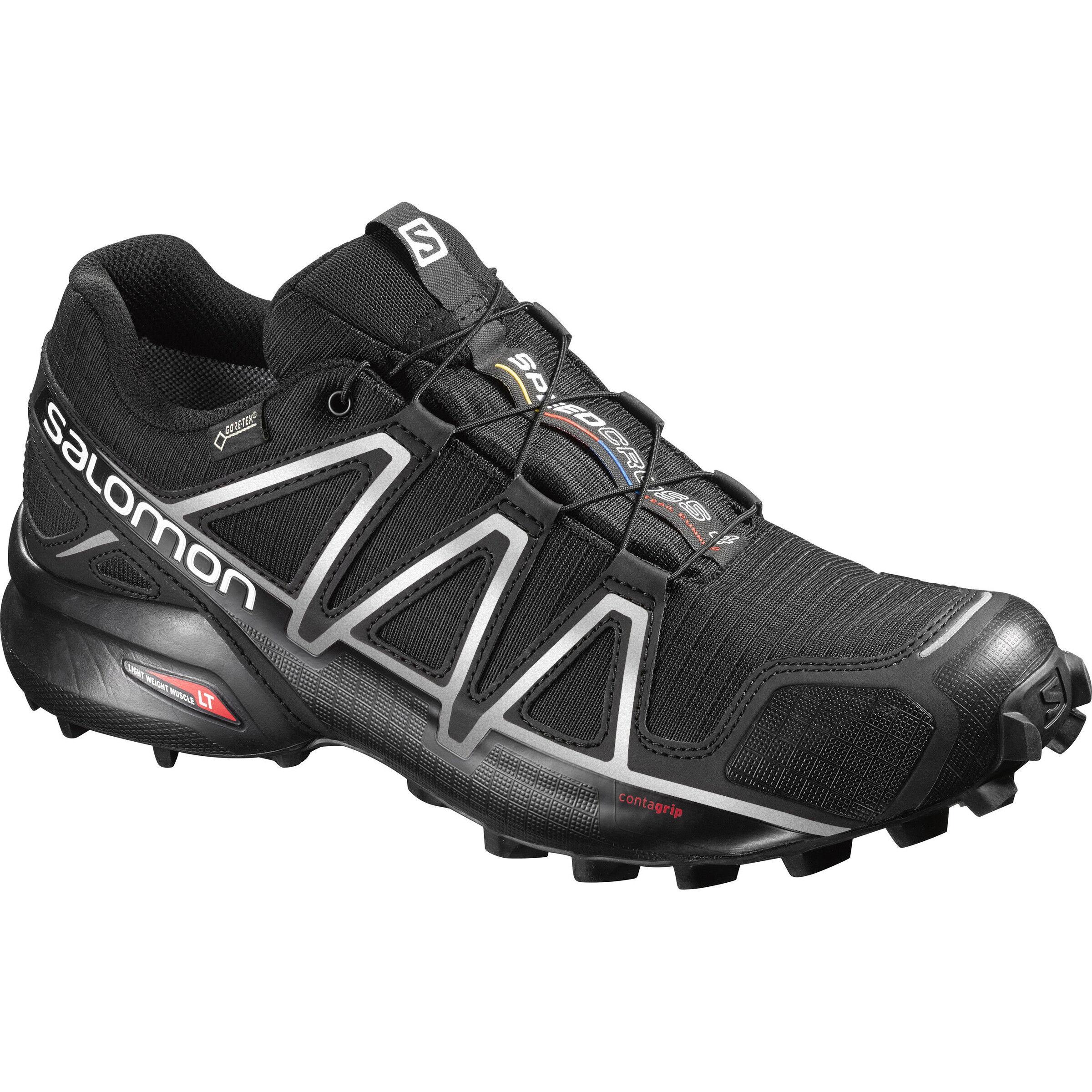 Salomon Speedcross 4 GTX Shoes Herren blackblacksilver metallic x