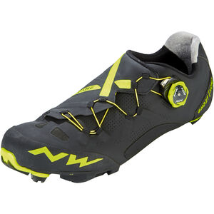 Northwave Ghost XCM Shoes Men black/yellow fluo