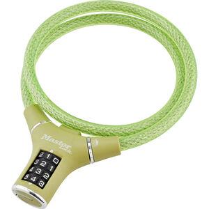 Masterlock 8229 Kabelschloss 12mm x 900mm grün grün