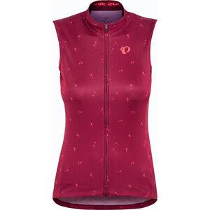 PEARL iZUMi Select Graphic Sleeveless Jersey Damen beet red wish beet red wish