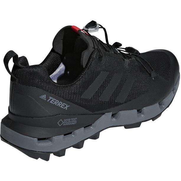 adidas TERREX Fast GTX-Surround Shoes Herren core black/grey five/hi-res red