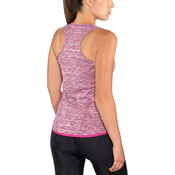 Löffler Rainbow Racerback Fahrrad Top Damen berry/rainbow