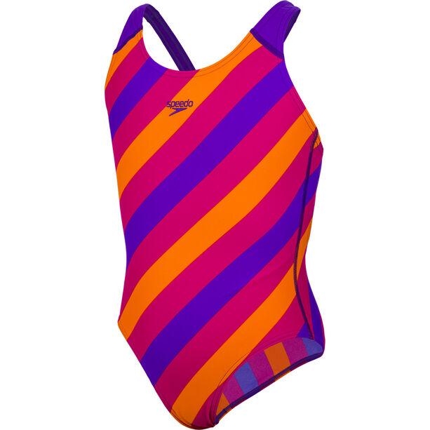 speedo Allover Splashback Badeanzug Mädchen purple/pink