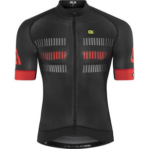 Alé Cycling Graphics PRR Strada Shortsleeve Jersey Herren black-red black-red