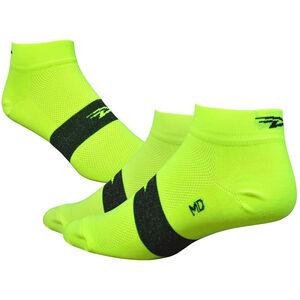 "DeFeet Aireator 1"" Socken team defeet hi-vis yellow/black stripe team defeet hi-vis yellow/black stripe"