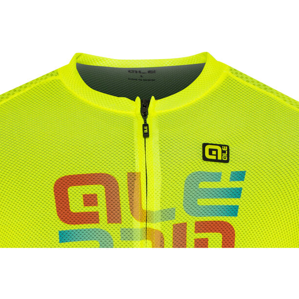 Alé Cycling Solid Mirror SS Jersey Herren flou yellow