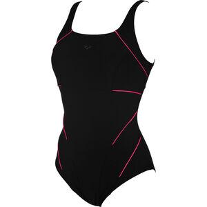 arena Jewel Low C Cup One Piece Swimsuit Damen black-rose violet black-rose violet