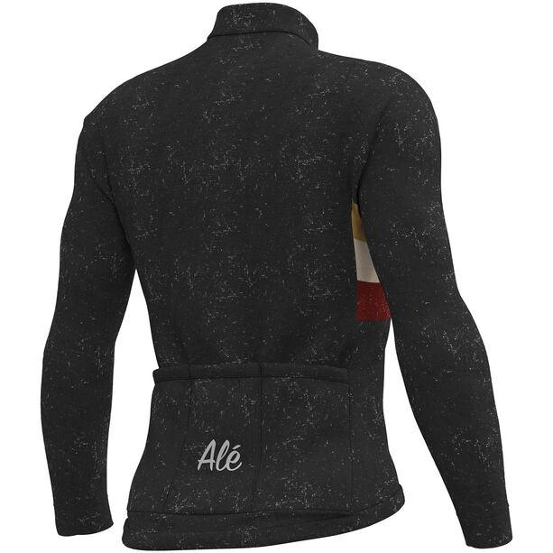 Alé Cycling Classic Vintage Langarm Trikot Herren black