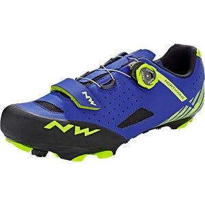 Northwave Origin Plus Shoes Men blue/yellow fluo