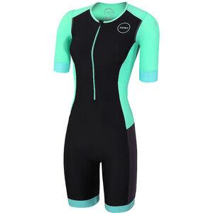 Zone3 Aquaflo+ SS Trisuit Damen black/grey/mint black/grey/mint