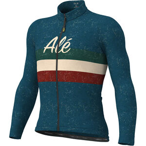 Alé Cycling Classic Vintage Langarm Trikot Herren blue blue