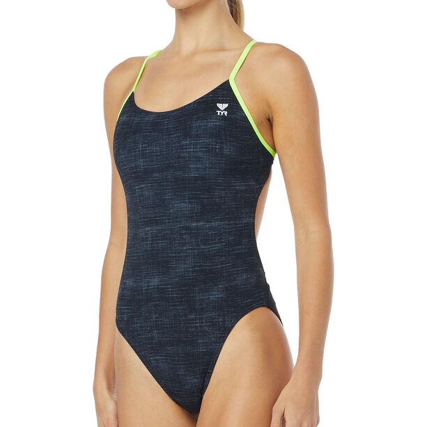 TYR Sandblasted Cutoutft Bathing Suit Damen black