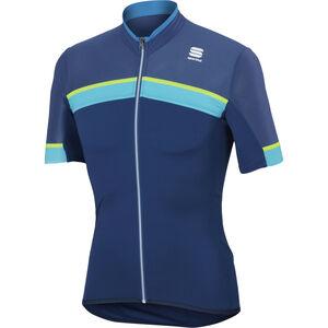 Sportful Pista SS Jersey Herren blue twilight/electric blue/yellow blue twilight/electric blue/yellow
