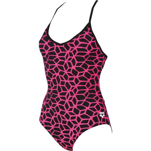 arena Carbonics L One Piece Swimsuit Damen black-fresia rose